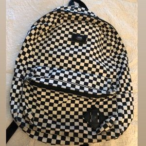 Used Vans checkered backpack